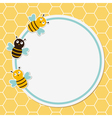 Bees frame vector image vector image