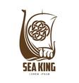 ship Viking logo vector image