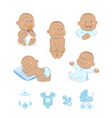 African baby boy set vector image