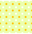 Cute spring polka dots pattern or background vector image