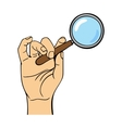 Human hand holding search web loupe vector image