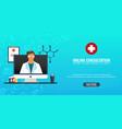 online consultation medical background health vector image