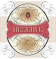 ornate label design vector image