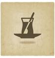 Turkish tea old background vector image