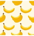 Yellow banana seamless background vector image