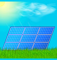 modern solar station with blue panels standing in vector image