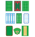 fields for sports games vector image vector image