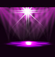 lighting of the ice rink catwalk stage lights vector image
