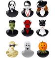 set of halloween avatars vector image
