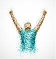 Abstract successful man vector image vector image