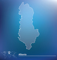 Map of Albania vector image vector image