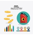 Petroleum and oil industry infographic design vector image