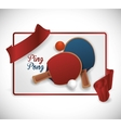 Ping Pong sport design vector image