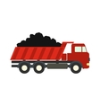 Dump truck flat icon vector image