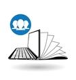 Flat about digital marketing design vector image