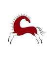 Chinese zodiac symbol red horse vector image