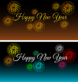 City at night with fireworks set vector image