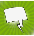 Empty speech bubble on sunburst background Design vector image