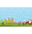 Fire fighting department banner vector image