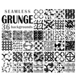 Grunge seamless backgrounds vector image