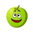 Healthy crisp green apple fruit vector image