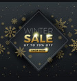 winter sale background banner template design vector image