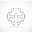 Steering wheel outline icon vector image