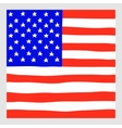 Hand draw squared flag of USA vector image