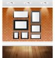 Gallery interior vector image vector image