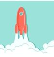 Rocket in the sky vector image