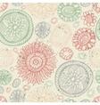Doodles flower seamless pattern vector image