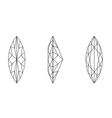 marquis shape gemstone wire frame vector image