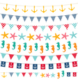 Marine bunting and garland set vector image