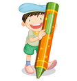 boy with pencil vector image