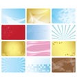 business cards with abstract design vector image