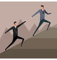 business men growth collaboration solution design vector image