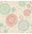Doodles flower seamless pattern vector image