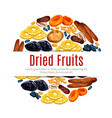 dried fruit raisin apricot label for food design vector image