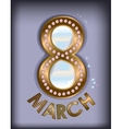 March 8 pearls vector image