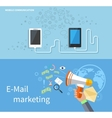 Mobile Communication and E-mail Marketing vector image