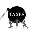 Taxes burden vector image