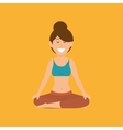 woman yoga healthy life vector image