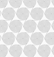 Slim gray merging spirals with triangles vector image