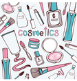 Beauty Cosmetics Pattern vector image