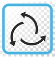 Centrifugal Arrows Icon In a Frame vector image
