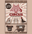 vintage circus performance poster vector image