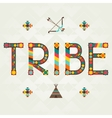 Tribe Design word with ornament vector image vector image
