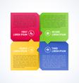 Four consecutive steps design element vector image