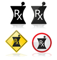 Prescription signs vector image vector image
