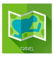 Tourist creative of map in flat style vector image